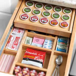 Add a k cup organizer to your kitchen drawer